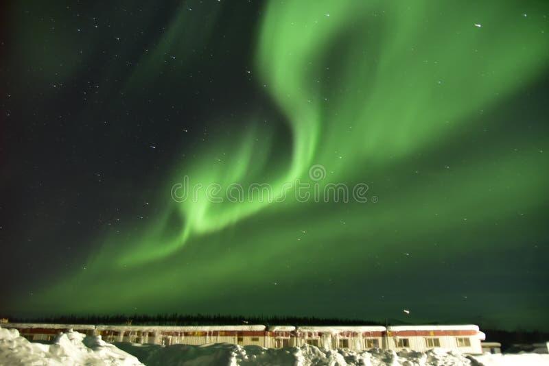 Aurora in Coldfoot stockbilder
