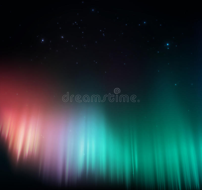 Aurora colorida ilustração stock
