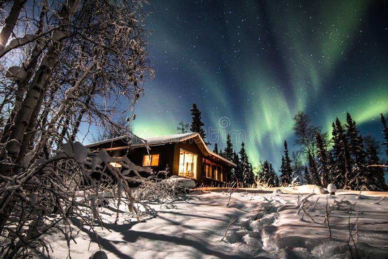 Aurora Cottage Dreams royalty-vrije stock afbeelding