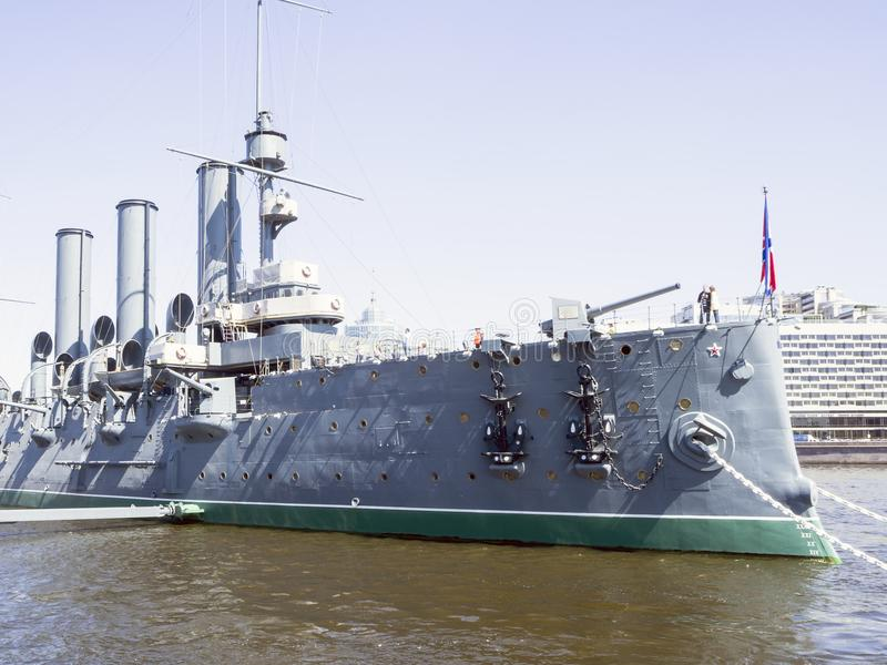 Aurora del crucero de StPetersburg imagenes de archivo