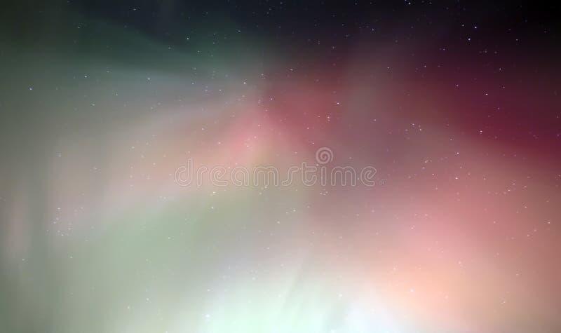 Aurora della corona con rosso immagini stock