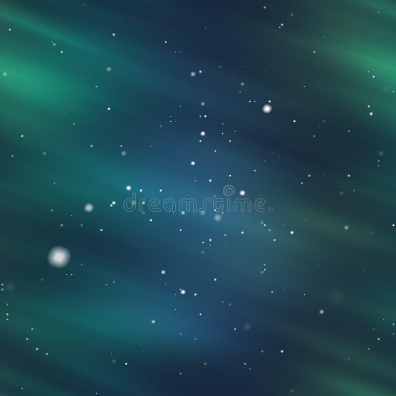 Aurora e neve ilustração royalty free