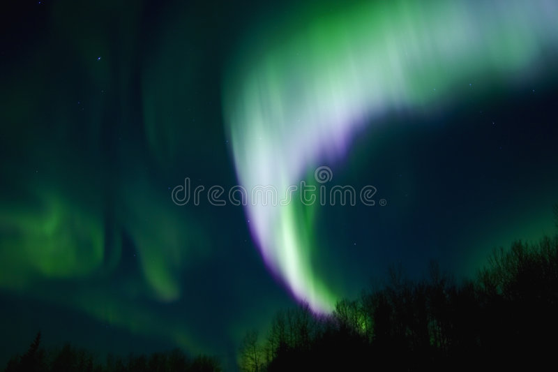 Aurora multicolora imagen de archivo libre de regalías