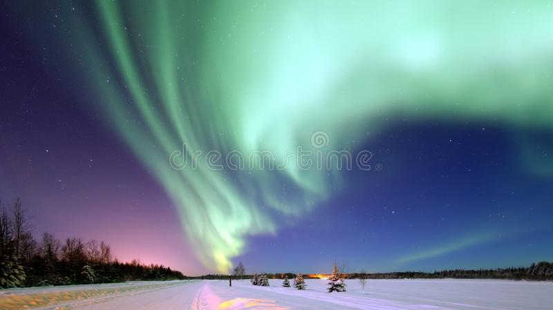 Aurora, Nature, Atmosphere, Sky royalty free stock photography