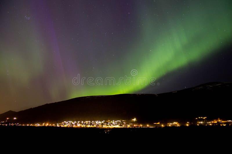 Aurora in Norwegen stockfotografie