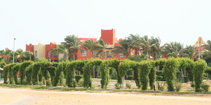 Aurora Oriental Bay Resort em Marsa Alam imagem de stock royalty free