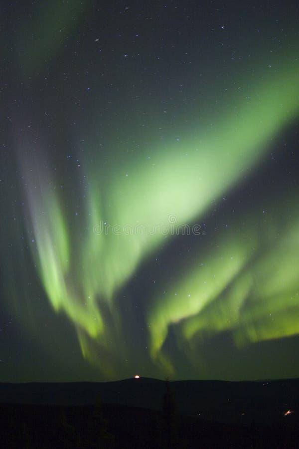 Aurora over horizon stock image