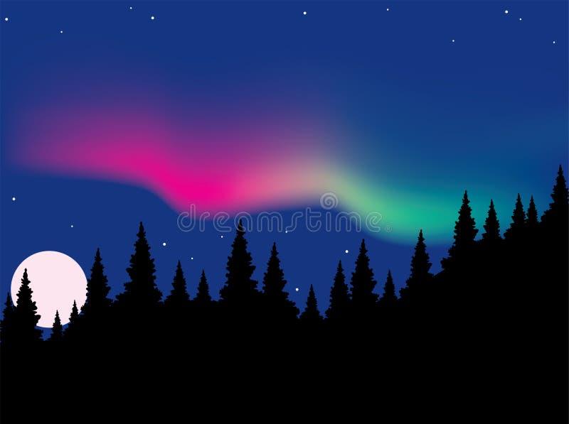 Aurora polaris royalty free illustration