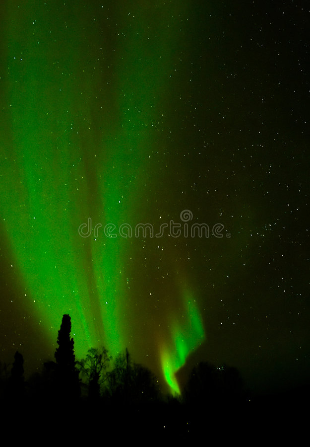 Aurora - Tall Soft Ribbons stock images
