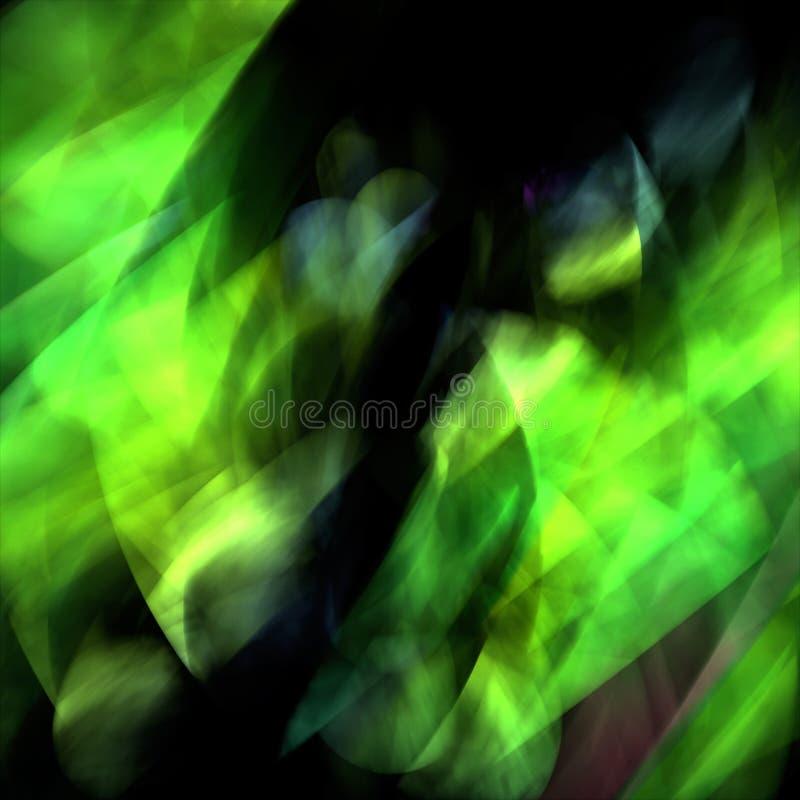 Aurora verde ilustração stock