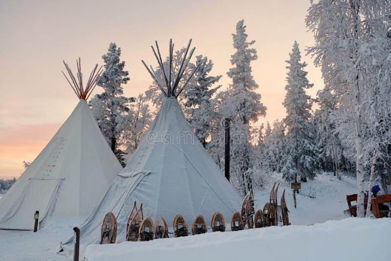 Aurora Village i Yellowknife royaltyfri fotografi