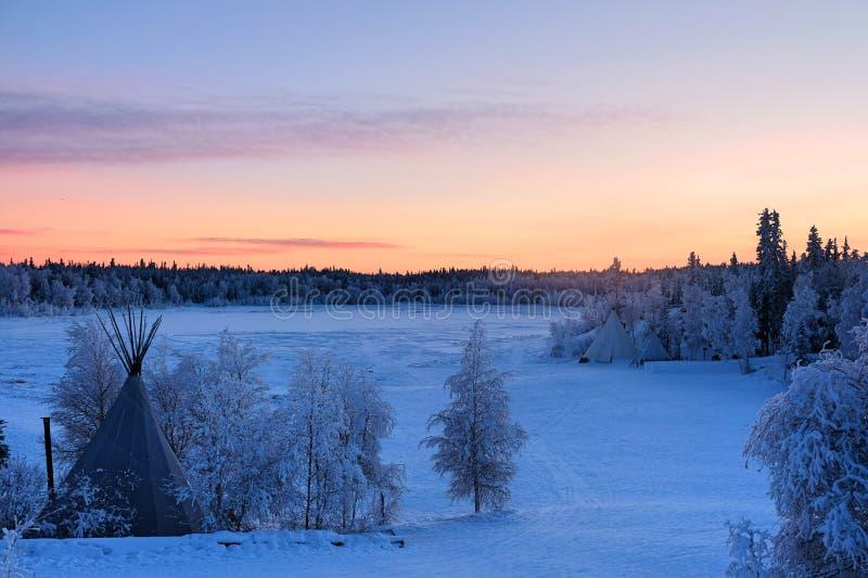 Aurora Village a Yellowknife fotografie stock