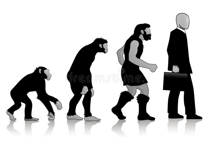 Auroro - Man Evolution vector illustration