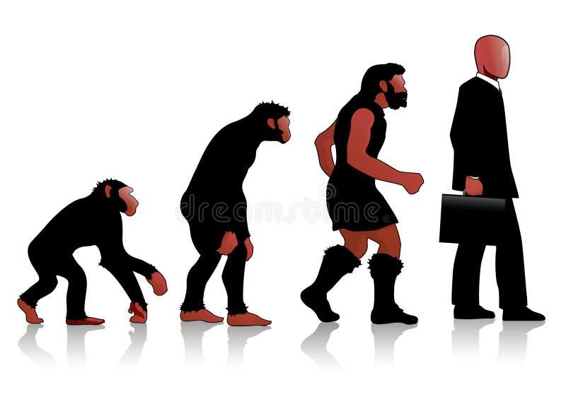 Auroro - Man Evolution red royalty free illustration