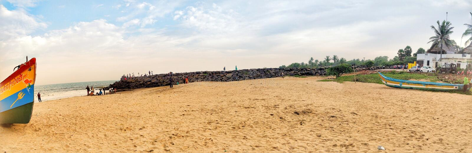 Auroville Beach royalty free stock image