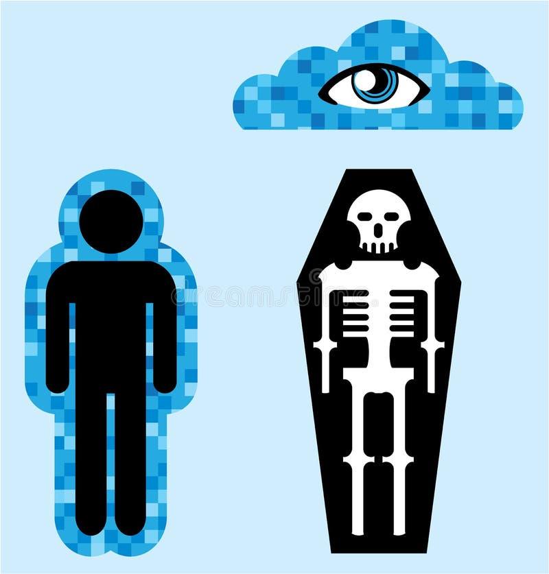 Aury duszy śmierci ludzkiej życia pozagrobowe wektor ilustracja wektor