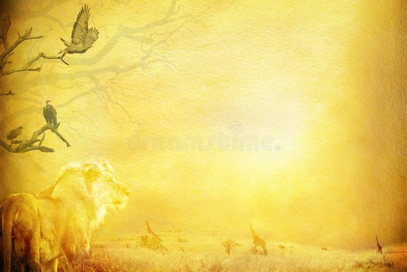 Aus Afrika grunge Hintergrund heraus. vektor abbildung