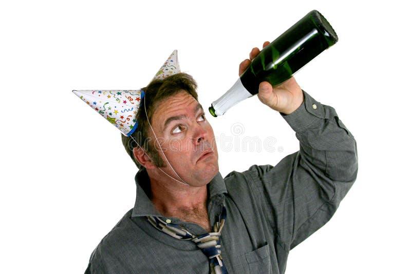 Aus Champagne heraus lizenzfreie stockfotos