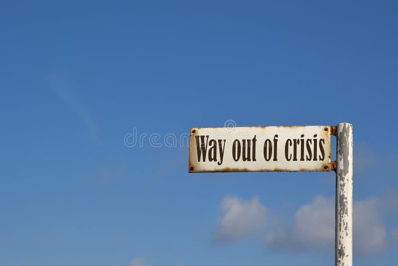 Aus der Krise heraus lizenzfreies stockfoto