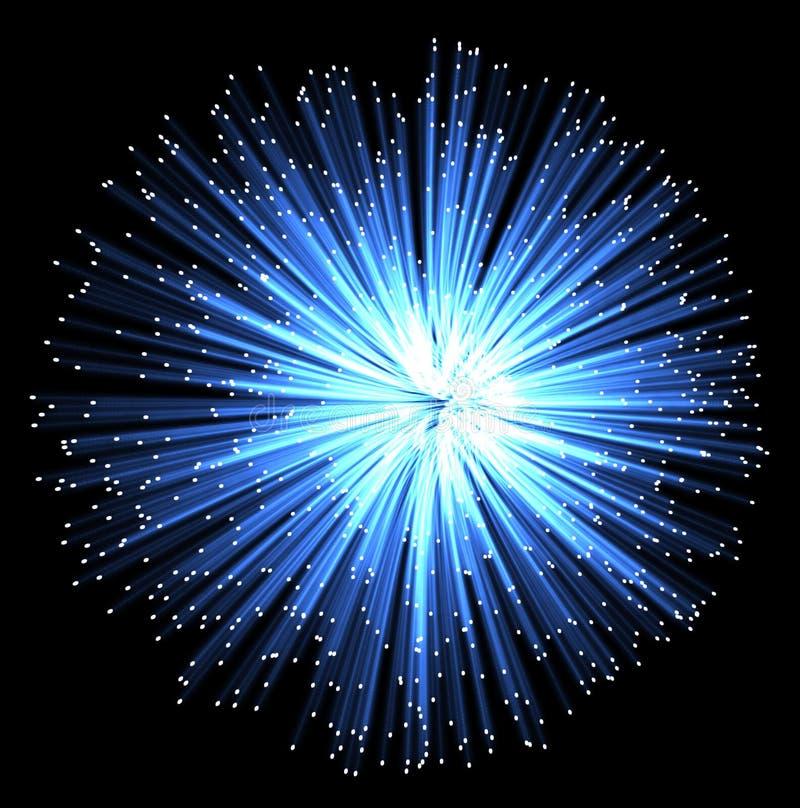 Aus optischen Fasern vektor abbildung