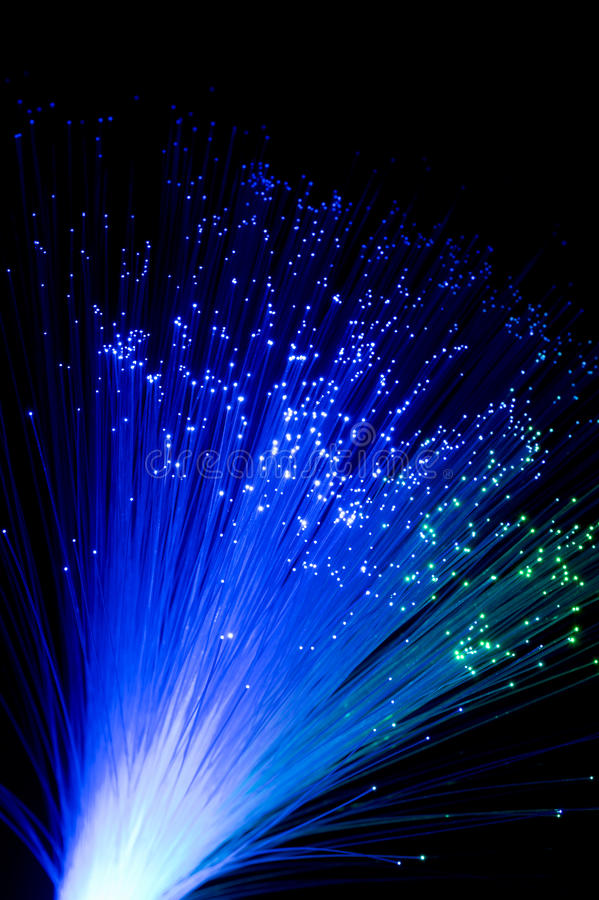 Aus optischen Fasern lizenzfreies stockfoto