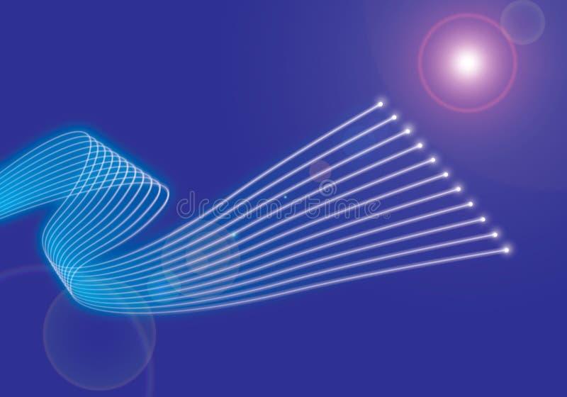 Aus optischen Fasern stock abbildung