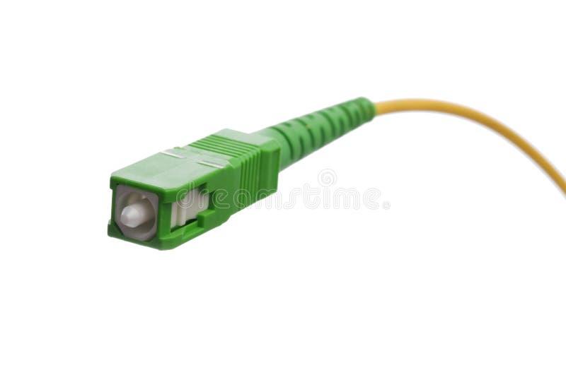 Aus optischen Fasernverbinder lizenzfreies stockbild