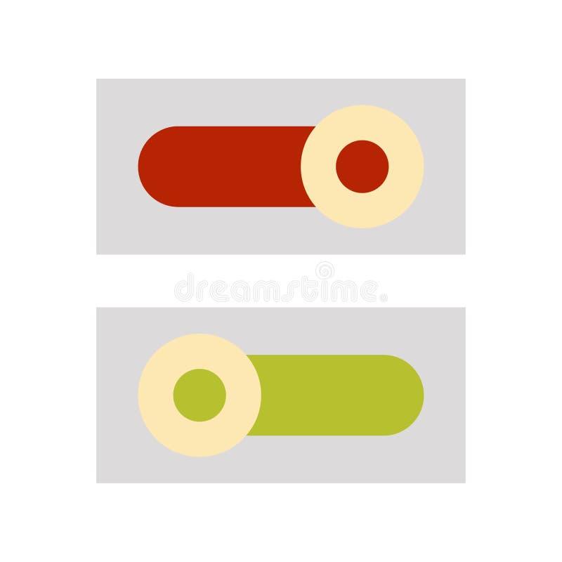 An-/Aus-Schalter-Ikone flache Illustration der An-/Aus-Schalter-Vektorikone für Netz stock abbildung