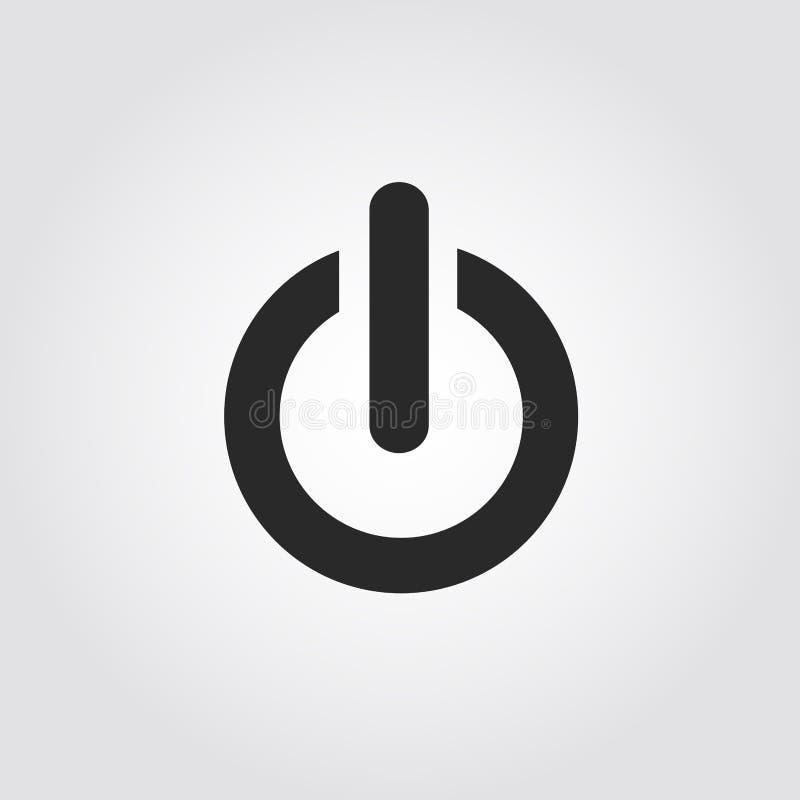 An-/Aus-Schalter-Ikone, flaches Design stock abbildung