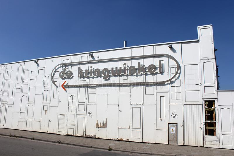 Aus zweiter Hand Shop Aalst, Belgien lizenzfreie stockfotografie