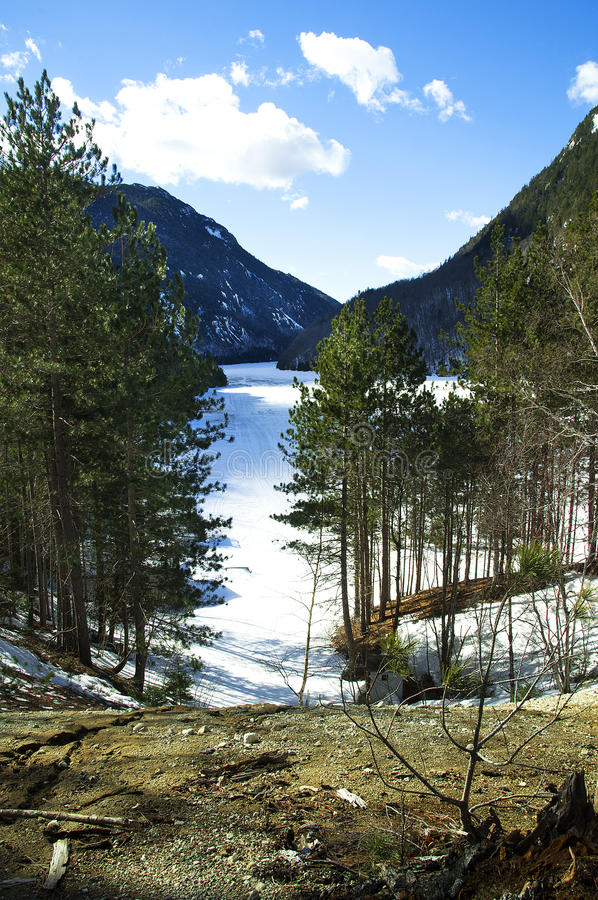 Ausabe lake High Peacks region royalty free stock photos