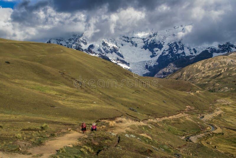 Ausangate,秘鲁 免版税图库摄影