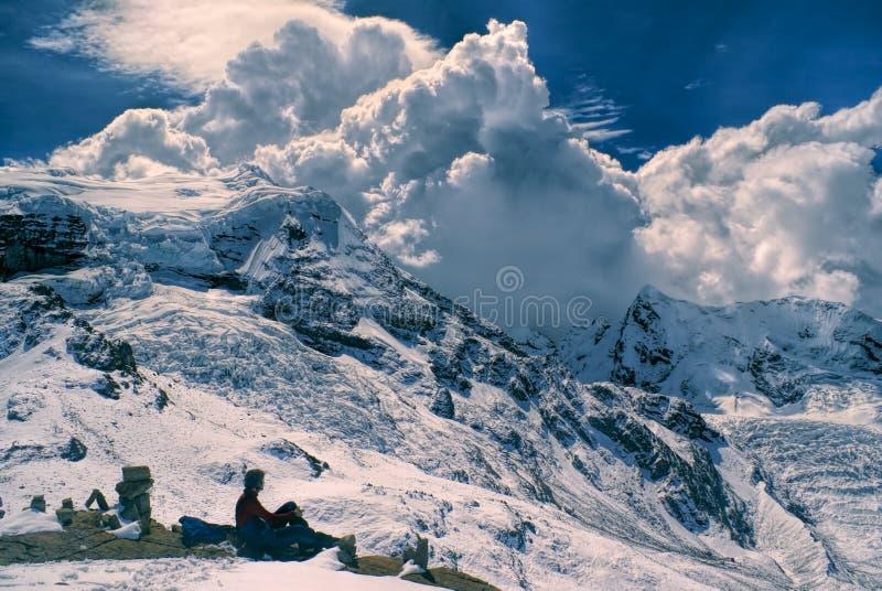 Ausangate, le Ande fotografia stock