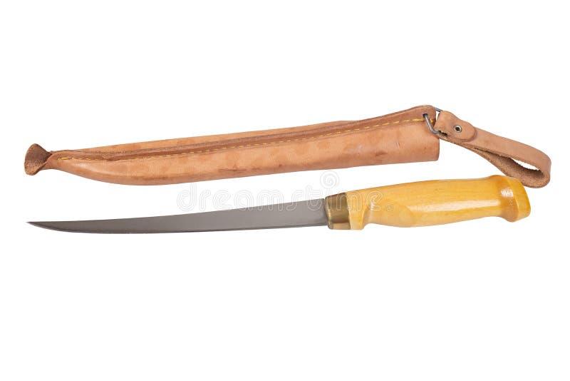 Ausbeinendes Messer mit schützendem Fall stockbild