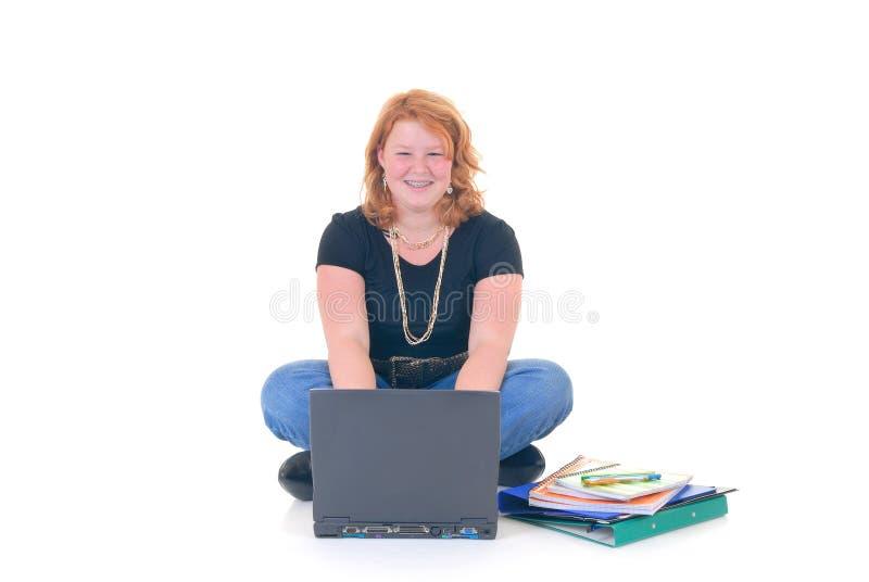 Ausbildung auf Laptop stockbild
