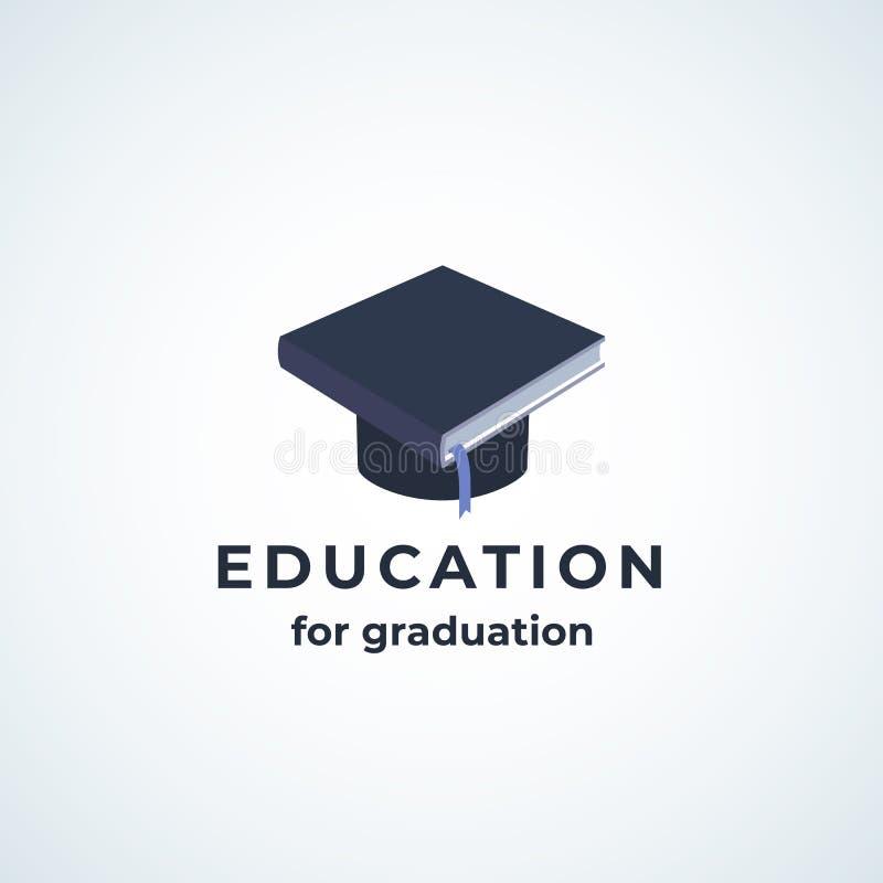 Ausbildung für Staffelung Absrtract-Vektor-Zeichen, Symbol oder Logo Template Buch integriert in Studenten im Aufbaustudium Hat stock abbildung