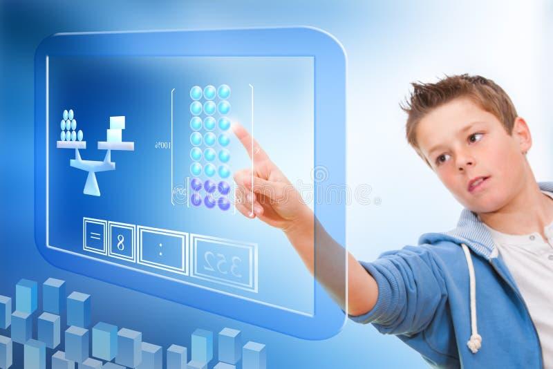 Ausbildung mit virtueller Tafel. stockbilder