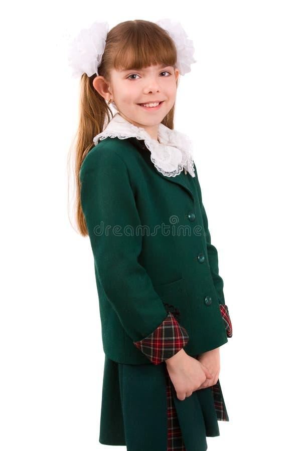 Ausbildung. Schulmädchen in der Schuluniform. lizenzfreie stockfotos