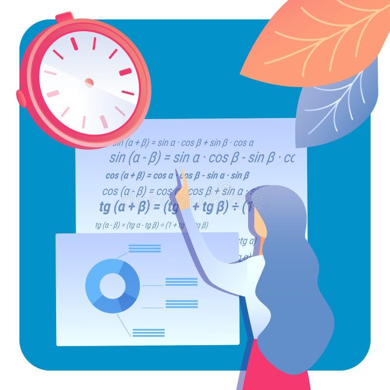 Ausbildung, wissenschaftliche Forschungs-Vektor-Illustration lizenzfreie abbildung