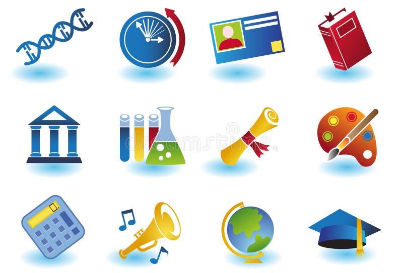 Ausbildungs-Ikonen lizenzfreie abbildung