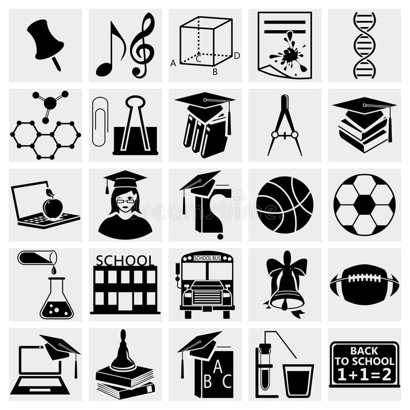 Ausbildungs-Ikonen Eingestellt Lizenzfreies Stockbild