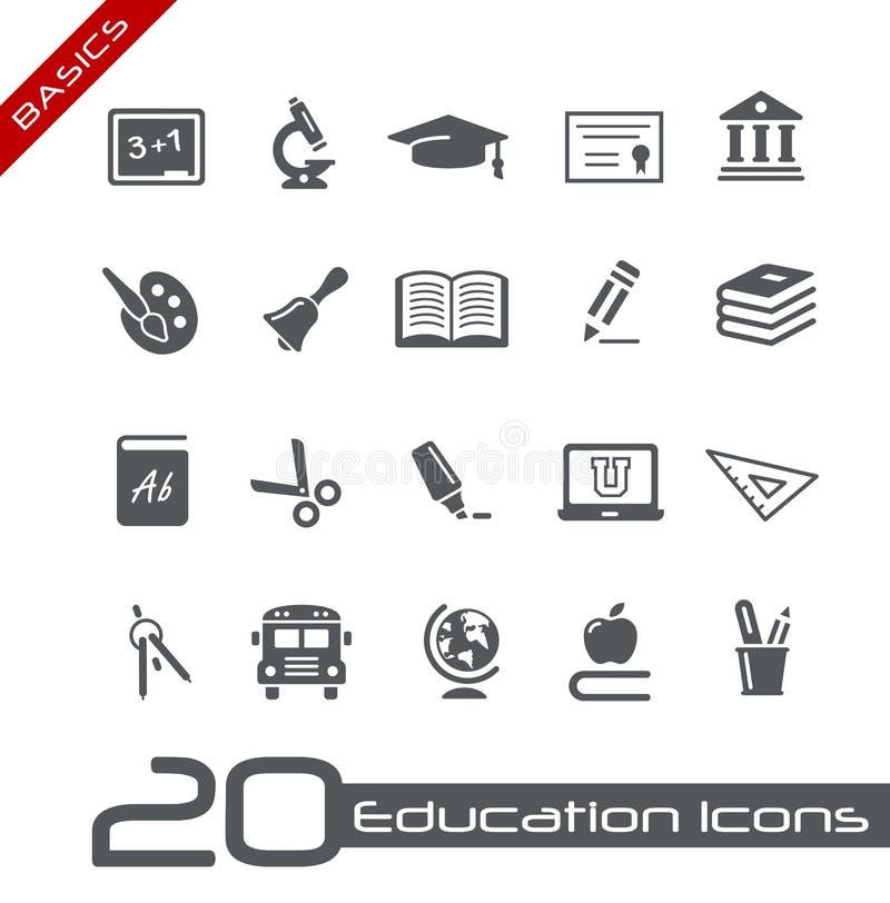 Ausbildungs-Ikonen-//-Grundlagen lizenzfreie abbildung