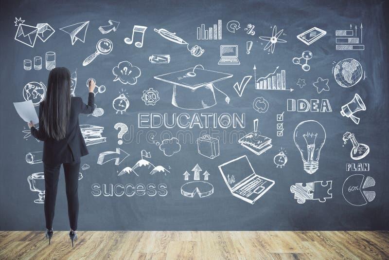 Ausbildungs- und Wissenskonzept stockfoto