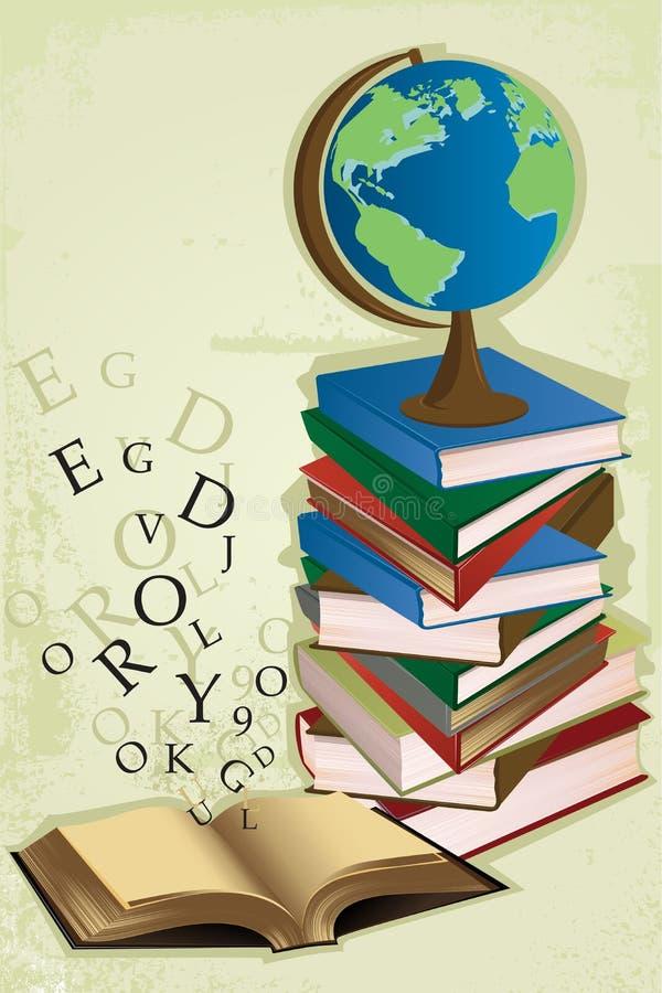 Ausbildungsbücher stock abbildung