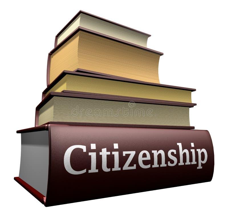 Ausbildungsbücher - Staatsbürgerschaft lizenzfreie abbildung