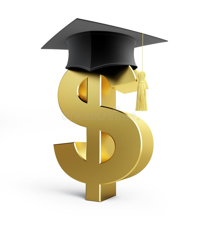 Ausbildungsdollar Wirtschaftsschule stock abbildung