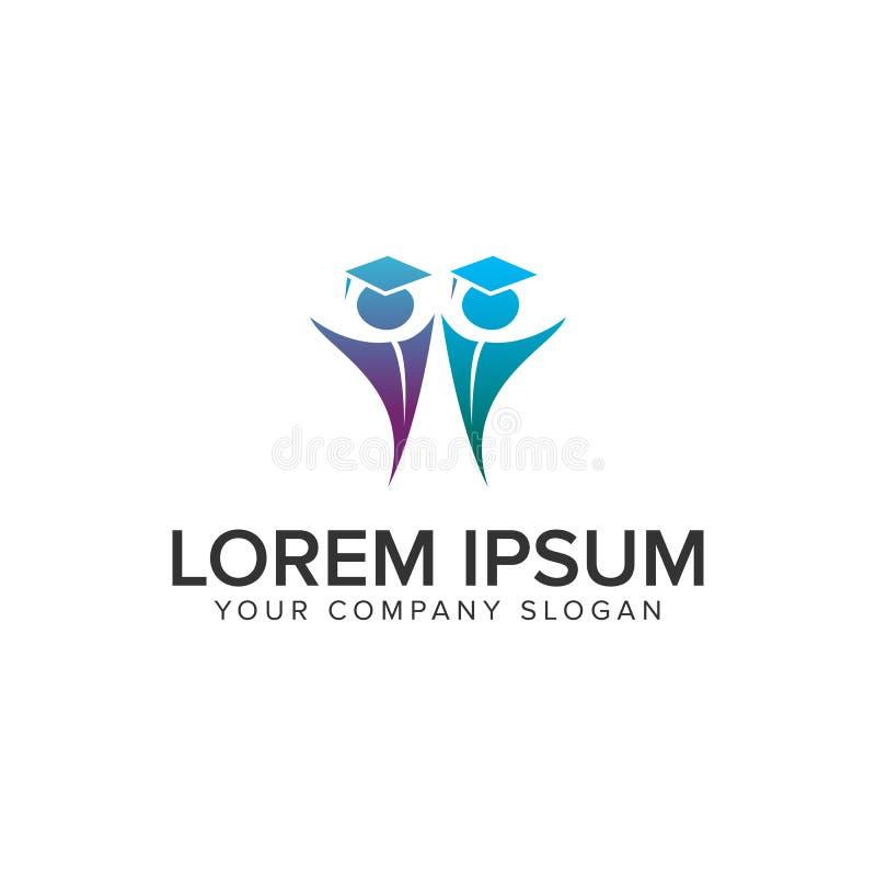 Ausbildungsleute Logo-Konzept- des Entwurfesschablone stock abbildung