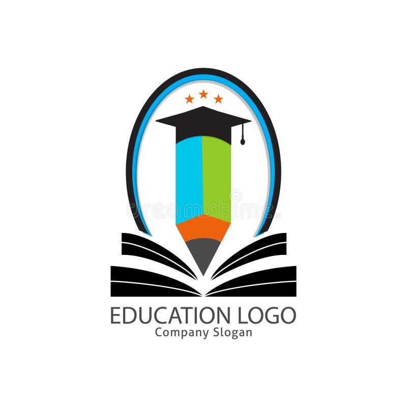 Ausbildungslogo für intelligente Leute stock abbildung