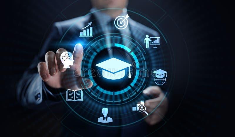 Ausbildungstechnologie E-Learning-on-line-Training Webinar-Seminar-Wissens-Unternehmens-persönliche Förderung lizenzfreie stockbilder