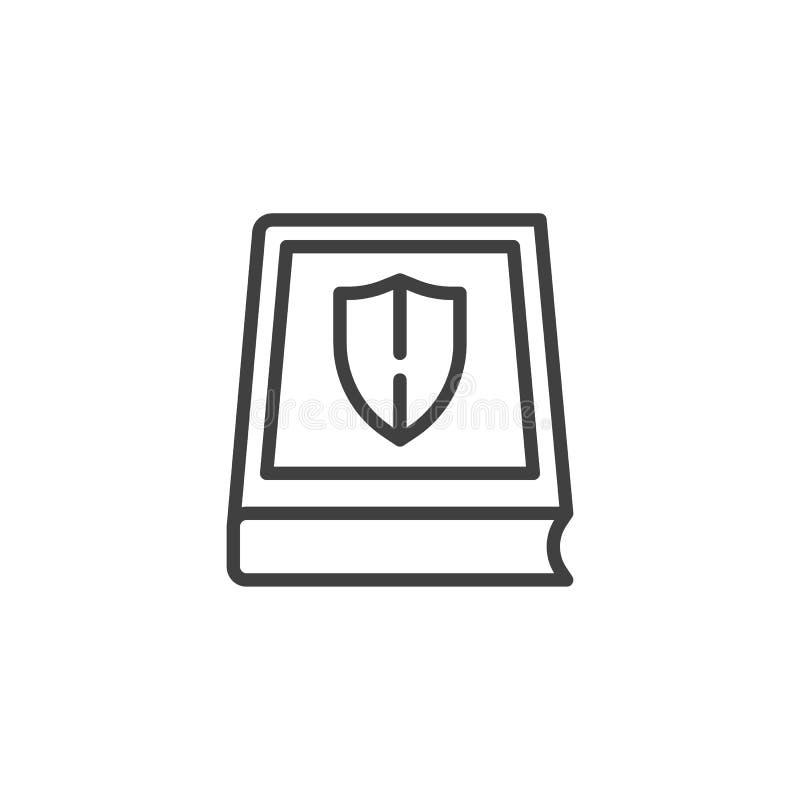 Ausbildungsversicherungslinie Ikone vektor abbildung